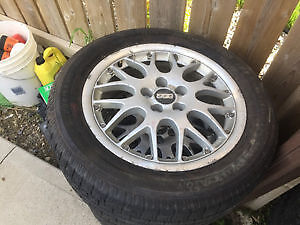 BBS 16 inch rims tires 5x100 bolt pattern