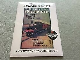The Age of the Steam Train A Collection of 8 Vintage Posters New, never used