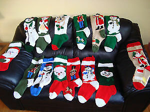 2019 personalized knitted Christmas stockings