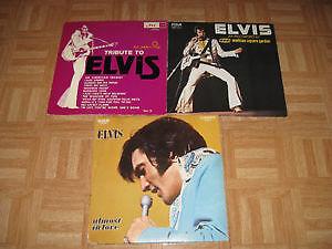 3 disques vinyle Elvis Presley