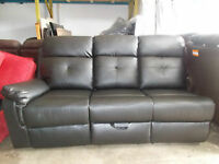 BRAND NEW... PART OF A SECTIONAL.  LEATHER WITH BOTTOM STORAGE D