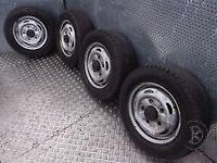 Transit van tyres and wheels