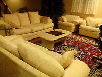 Sofa, Love Seat, and 2 Sofa Chairs with matching coffee table