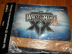 WWE WWF WRESTLEMANIA PIN SET COLLECTION! NEW IN PKG