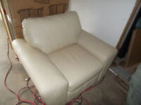 Brand new cream color leather chair
