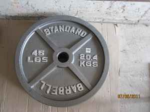 """Grey OlympiC Plates 2"""" gym weights exercise"""