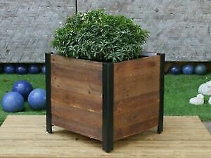 Gorgeous Cast Iron and Barnboards Planters