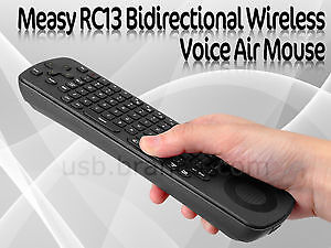 Measy Wireless 2.4G Voice Keyboard and Remote Control RC13