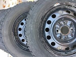 4 winter tires on rims - Hercules Avalanche Xtreme 205 60R15 Peterborough Peterborough Area image 4