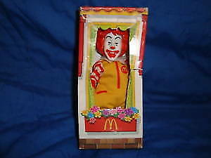 Ronald Mcdonald Finger Puppet 2003 Mcdonalds Toy in box