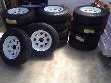 235x75x15 All Terrain Tyres on Sunraysia White Rims Hindmarsh Charles Sturt Area Preview