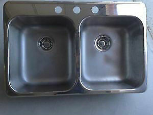 Brand New Stainless Steel Kitchen Sink and Moen Faucet