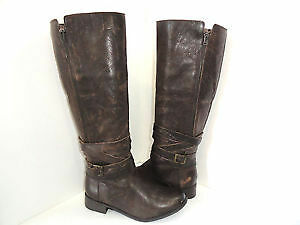 Kenneth Cole Reaction Brown Leather Riding Boots Size 6.5