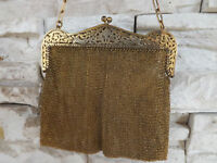 Antique Beautiful German Silver Mesh PURSE  Both iside and outs