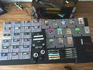 Collection de jeux nintendo et super nintendo