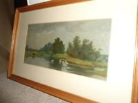 ANTIQUE OIL PAINTING BY DASHWOOD DATED 1933. CAN POST