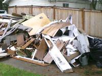 Ramasse toutes( dechets de renovation,toutes formes de debris)