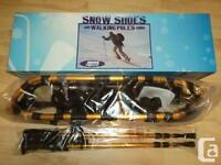 Swiss Force Snow Shoes Walking Poles Combo Brand New