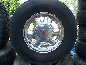 set-4-gmc 6 bolt chrome rims + tires