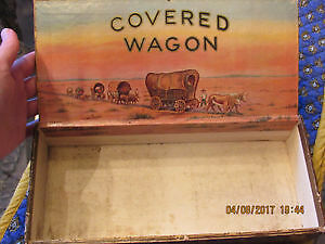 "Vintage collectable huge cigar box ""Covered Wagon"""