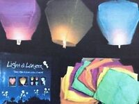 Color or white sky lanterns $1.00 each when purchase of 50 pcs