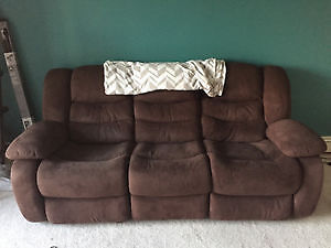 Brown Recliner couch MUST GO!