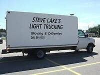 Steve Lake's Light Trucking. House Moving Maritime Wide.