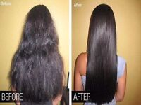 Permanent Keratin treatment.