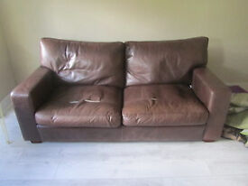 Two-seater leather sofa.