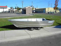 WANTED : ALUMINUM BOAT WITH TRAILER