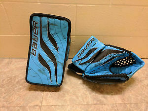 WANTED Bauer Reactor goalie gloves light blue / powder blue