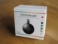 Brand new sealed Google Chromecast 2nd generation boxed chrome cast