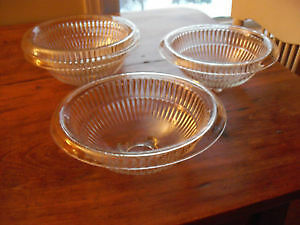Antique Depression Glass Ribbed Mixing Bowls London Ontario image 2