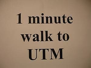 1 Minute WALK to UTM, Rent Near UTM