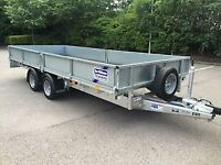 IFOR WILLIAMS, DROP SIDES FLAT BED TRAILER