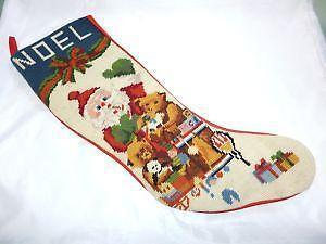 Astounding Needlepoint Christmas Stocking Ebay Easy Diy Christmas Decorations Tissureus