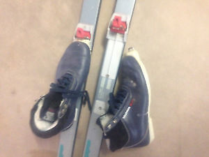 2 Pairs of Cross Country Skis and Boots