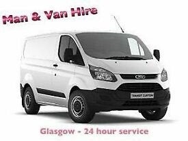 ⭐ MAN with VAN hire - GLASGOW - ALL AREAS - 7 Days a week - 24hr service