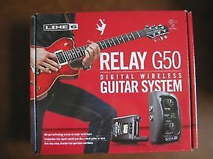 wanted Line 6 Relay G50 Wireless Guitar System