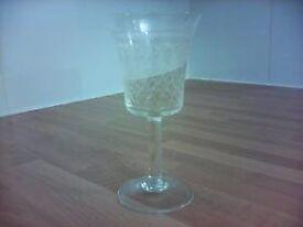 7 Cut Glass Sherry Glasses