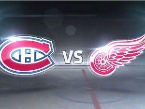Detroit Red Wings vs Montreal Canadiens  SAT APRIL 8 !!!!