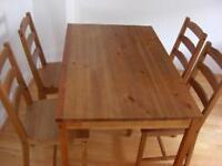 IKEA Jokkmokkk Dining table set 4 seater