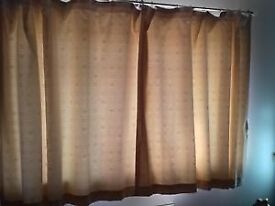 CREAM LINED CURTAINS.