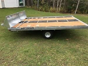Easy Hauler 12' Double Galvanized Snowmobile Trailers Instock!