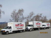 MOVING TRUCKS GOING TO BC EMPTY-- CHEAPEST RATES - WEEKLY TRIPS