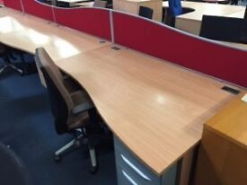 Waved Cantilever Office or Home Workstation/ Free Delivery