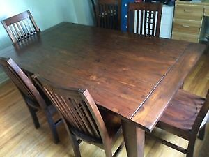 Beautiful Reclaimed Pine Dining Table and Chairs