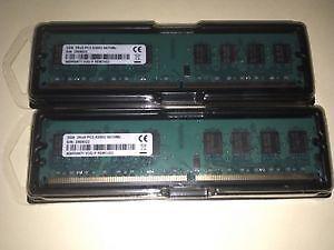 2x2gb 2rx8 DDR2 pc3-5300u 667mhz 240pin Memory