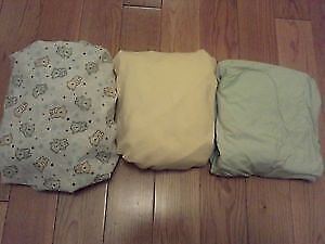 Gender Neutral Fitted Crib Sheets (x3) **mint, 2 new!**