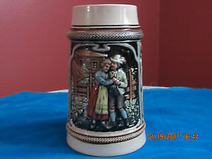 Big antique vintage collectable German beer mug